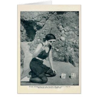 Cartão 1922 do retrato do vintage de Mona Kingsley