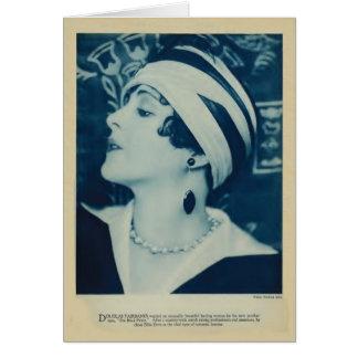 Cartão 1925 do retrato do vintage da pomba de