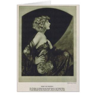 Cartão 1925 do retrato do vintage de Helen Lee