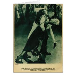 Cartão 1925 do retrato do vintage de John Gilbert