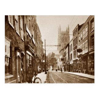 cartão 1927 do sepia de worcester Reino Unido
