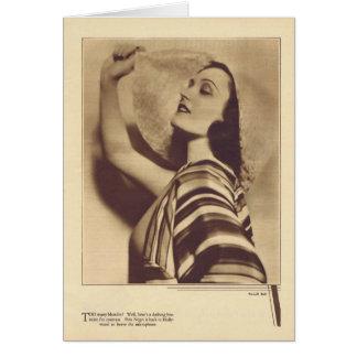 Cartão 1931 do retrato do vintage de Pola Negri