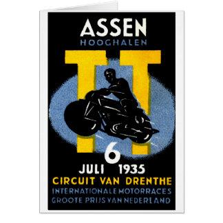 Cartão 1935 raças internacionais da motocicleta