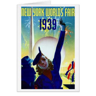 Cartão 1939 da feira de mundo #2 de New York