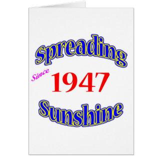 Cartão 1947 luzes do sol de espalhamento