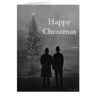 Cartão 1948: Árvore de Natal da consideração de dois