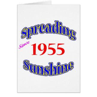 Cartão 1955 luzes do sol de espalhamento