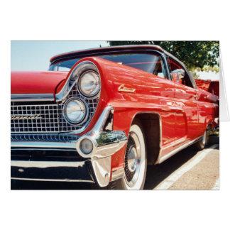 Cartão 1959 convertível continental de Lincoln