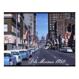 Cartão 1959 de Des Moines