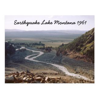 Cartão 1961 de Montana da corrediça do lago