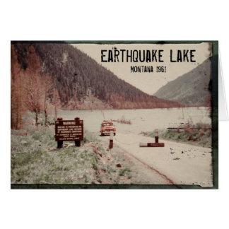 Cartão 1961 de Montana do lago earthquake
