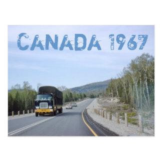 Cartão 1962 da viagem por estrada de Canadá