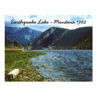 Cartão 1962 de Montana do lago earthquake