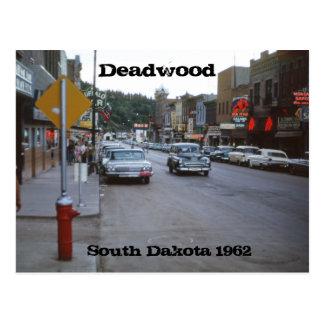 Cartão 1962 retro de South Dakota da palha