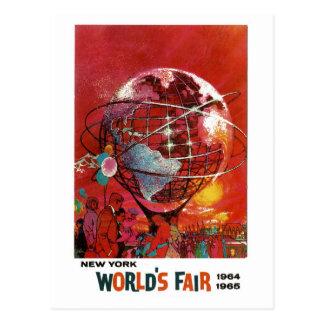 Cartão 1964 da feira de mundo de New York