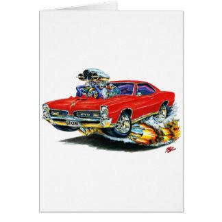 Cartão 1966-67 carro do vermelho de GTO