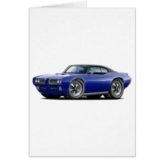 Cartão 1968-69 carro superior Azul-Preto de GTO DK