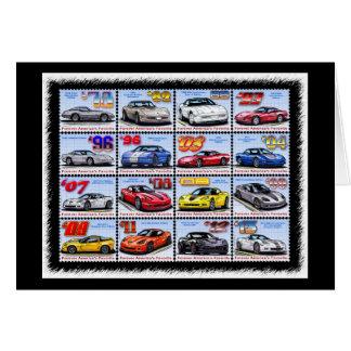 Cartão 1978-2013 montagem de Corveta da edição especial