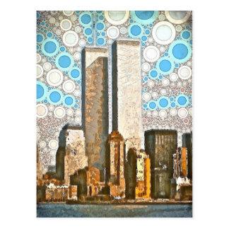 Cartão 1995 das torres gémeas