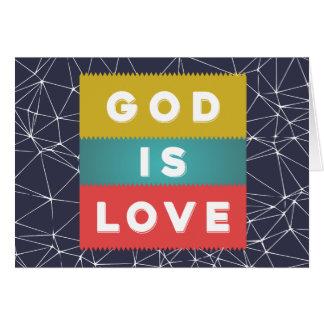 Cartão 1 4:8 de John - o deus é amor