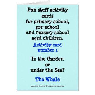 Cartão 1 a baleia