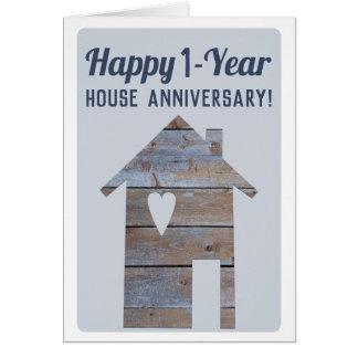 Cartão 1-Ano feliz Houseaversary