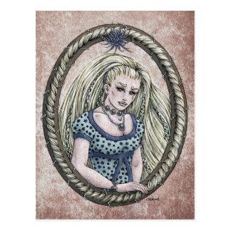 """Cartão #1 da arte da fantasia de """"Rapunzel"""" do con Cartões Postais"""