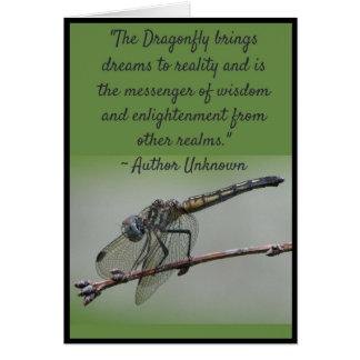 Cartão 1 das citações da libélula, vazio para