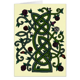 Cartão 1 do jardim de rosas
