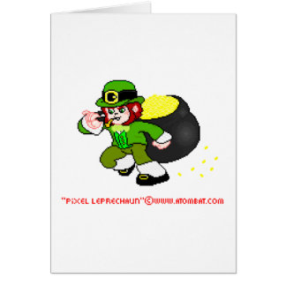 Cartão 1 do Leprechaun do pixel