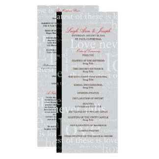 Cartão 1 programa Wedding elegante dos Corinthians 13