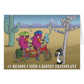 Cartão # 1 razão eu preciso uma transplantação do rim