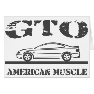 Cartão 2004-06 carro americano do músculo de GTO