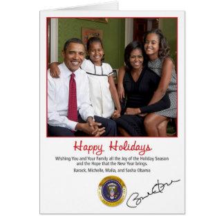 Cartão 2010 do feriado de Barack Obama