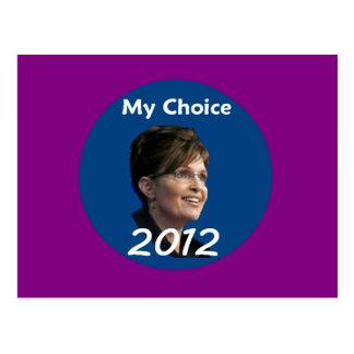 Cartão 2012 de Palin