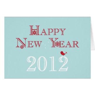 Cartão 2012 do feliz ano novo