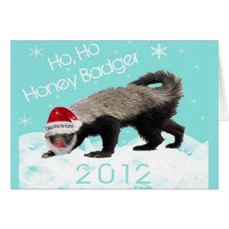 Cartão 2012 do Natal do texugo de mel