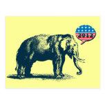 Cartão 2012 republicano do elefante do GOP do vint Cartoes Postais