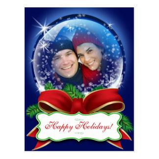 Cartão 2014 da foto do Natal a personalizar Cartão Postal