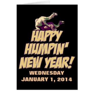 Cartão 2014 feliz do ano novo de Humpin