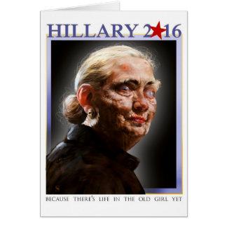 Cartão 2016 de Hillary