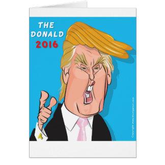Cartão 2016 do presidente Catoon de Donald Trump