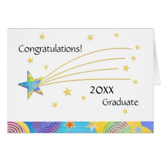 Cartão 2016 estrelado da graduação do divertimento