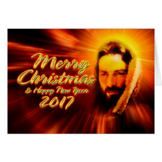 Cartão 2017 de Jesus do feliz ano novo do Feliz
