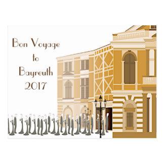 """Cartão 2017 do """"bon voyage"""" do festival de"""