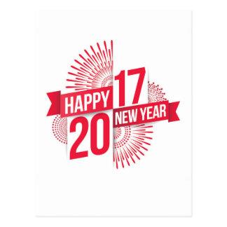 cartão 2017 do feliz ano novo cartão postal