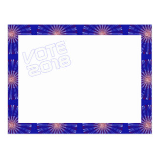 Cartão 2018 do VOTO das coronas do patriota