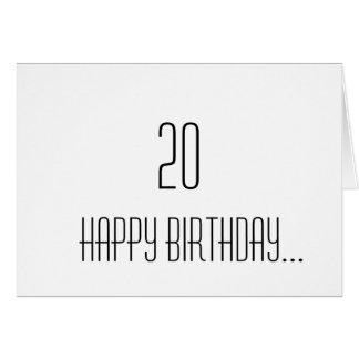 Cartão 20o Aniversário