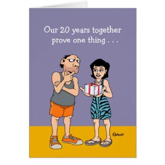 Cartão 20o aniversário de casamento engraçado