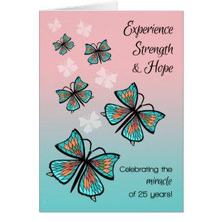 Cartão 25 anos 12 borboletas do aniversário da